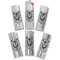 Hand Made Wolf Design Sterling Silver Bic Lighter Cover