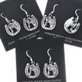 Sterling Silver Western Horseshoe Earrings 34829