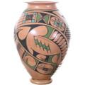 Hand Coiled Mata Ortiz Traditional Geometric Design 34847