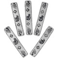 Heartline Bear Claw Symbols Silver Hair Clip 34853