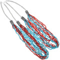 Seven Strand Western Turquoise Beaded Necklace 34858