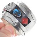 Authentic Vintage 1960s Bisbee Turquoise Watch Bracelet 34860