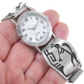 Sterling Silver Hopi Kokopelli Watch 34881