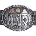 Sterling Silver Navajo Artwork Concho Belt 34950