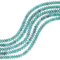 Blue Green Turquoise Rondelle Beads 34756