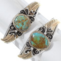 Number 8 Turquoise Navajo Bracelet Hand Made 17624