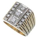 Vintage Diamond 14K Gold Mens Ring 35053