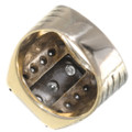 Diamond Mens Gold Ring Vintage Signet Style 35053