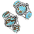 Number 8 Turquoise Sterling Silver Cuff Bracelets 28627