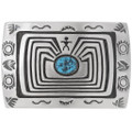 Man in the Maze Turquoise Belt Buckle 35059