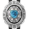 Natural Turquoise Sterling Bolo Tie 35087