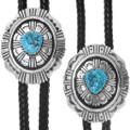 Native American Bolo Ties Kingman Turquoise Nugget 35087