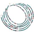 Navajo Beaded Gemstone Turquoise Necklace Choker 35109