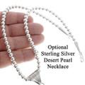 Optional Sterling Desert Pearl Necklace 35141