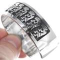 Authentic Navajo Kokopelli Sterling Silver Bracelet 35143