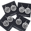 Authentic Native American Silver Maze Earrings 35145