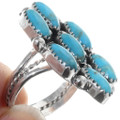 Sterling Silver Navajo Made Turquoise Ring 35207