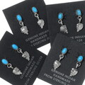 Sterling Silver Navajo Turquoise Earrings 35220