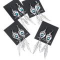 Bear Tracks Turquoise Shadowbox Earrings 35232