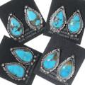 Silver Western Turquoise Earrings 35235