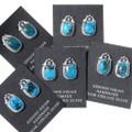 Blue Kingman Turquoise Earrings 35248