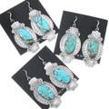 Western Turquoise French Hook Dangle Earrings 35249