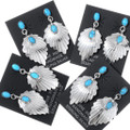 Navajo Genevieve Francisco Kingman Turquoise Earrings 35265