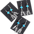 Native American Feather Earrings Turquoise 35268