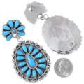 Authentic Navajo Zelda Begay Turquoise Earrings 35275