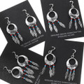 Native American Dreamcatcher Turquoise Earrings 35276