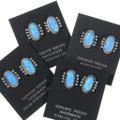 Sterling Silver Opal Earrings 35280