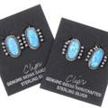 Navajo Silver Opal Earrings Clips 35279