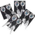 Bear Paw Navajo Made Dangle Turquoise Earrings 35281