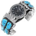 Vintage Zuni Turquoise Watch Cuff 35282
