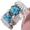 Sleeping Beauty Turquoise Nugget Ladies Watch Cuff 35284