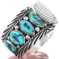 Old Pawn 1980s Native American Turquoise Watch 35285