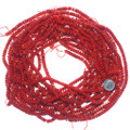6mm Coral Rondelle Beads Deep Red 35707