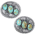 Number 8 Turquoise Belt Buckle 24688