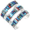 Spiderweb Turquoise Silver Cuff Bracelet 35297