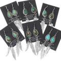 Native American Western Turquoise Earrings 35326