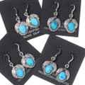 Turquoise French Hook Navajo Earrings 35331