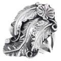 Navajo Sterling Silver Flower Leaf Ring 35344