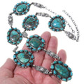 Turquoise Mountain Stones Sterling Silver Necklace 35352