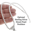 Optional Sterling Desert Pearl Necklace 35381