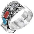 Navajo Coral Turquoise Watch Bracelet 35385