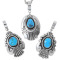 Sterling Silver Overlay Navajo Artistry Turquoise Pendants 35388