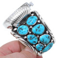 Native American Sterling Silver Turquoise Watch Bracelet 35467