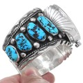 Turquoise Nugget Navajo Watch Artist Signed 35468