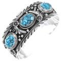Navajo Turquoise Silver Bracelet 35484