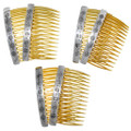 Silver Comb Pick Set Hair Accessories 35612
